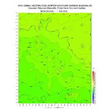 M 50 paftası 1/100.000 ölçekli Havadan Rejyonal Manyetik Haritası