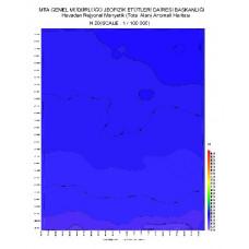 N 20 paftası 1/100.000 ölçekli Havadan Rejyonal Manyetik Haritası