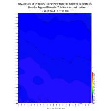 N 26 paftası 1/100.000 ölçekli Havadan Rejyonal Manyetik Haritası