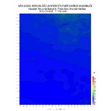 N 29 paftası 1/100.000 ölçekli Havadan Rejyonal Manyetik Haritası