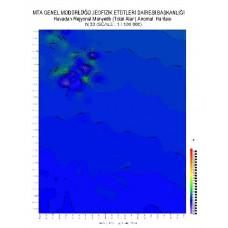 N 30 paftası 1/100.000 ölçekli Havadan Rejyonal Manyetik Haritası