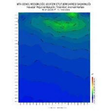 N 32 paftası 1/100.000 ölçekli Havadan Rejyonal Manyetik Haritası