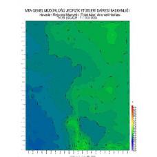 N 35 paftası 1/100.000 ölçekli Havadan Rejyonal Manyetik Haritası