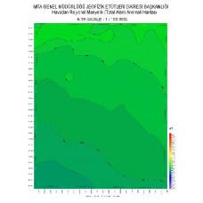 N 39 paftası 1/100.000 ölçekli Havadan Rejyonal Manyetik Haritası