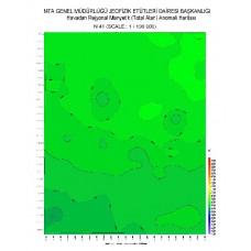 N 41 paftası 1/100.000 ölçekli Havadan Rejyonal Manyetik Haritası