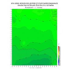 N 42 paftası 1/100.000 ölçekli Havadan Rejyonal Manyetik Haritası