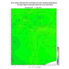 N 44 paftası 1/100.000 ölçekli Havadan Rejyonal Manyetik Haritası
