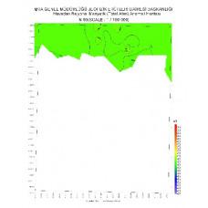 N 50 paftası 1/100.000 ölçekli Havadan Rejyonal Manyetik Haritası