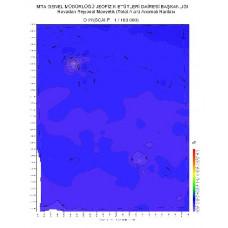 O 22 paftası 1/100.000 ölçekli Havadan Rejyonal Manyetik Haritası