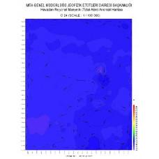 O 24 paftası 1/100.000 ölçekli Havadan Rejyonal Manyetik Haritası