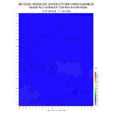 O 27 paftası 1/100.000 ölçekli Havadan Rejyonal Manyetik Haritası