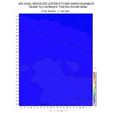 O 28 paftası 1/100.000 ölçekli Havadan Rejyonal Manyetik Haritası