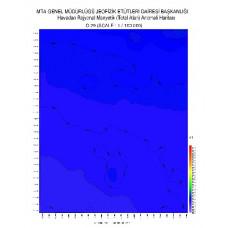 O 29 paftası 1/100.000 ölçekli Havadan Rejyonal Manyetik Haritası