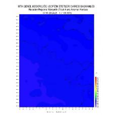 O 30 paftası 1/100.000 ölçekli Havadan Rejyonal Manyetik Haritası