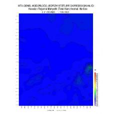 O 31 paftası 1/100.000 ölçekli Havadan Rejyonal Manyetik Haritası