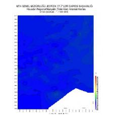 O 32 paftası 1/100.000 ölçekli Havadan Rejyonal Manyetik Haritası