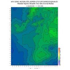 O 35 paftası 1/100.000 ölçekli Havadan Rejyonal Manyetik Haritası