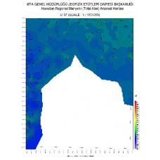 O 37 paftası 1/100.000 ölçekli Havadan Rejyonal Manyetik Haritası
