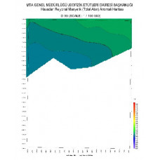 O 39 paftası 1/100.000 ölçekli Havadan Rejyonal Manyetik Haritası