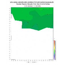 O 41 paftası 1/100.000 ölçekli Havadan Rejyonal Manyetik Haritası