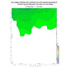 O 43 paftası 1/100.000 ölçekli Havadan Rejyonal Manyetik Haritası