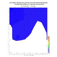 P 26 paftası 1/100.000 ölçekli Havadan Rejyonal Manyetik Haritası