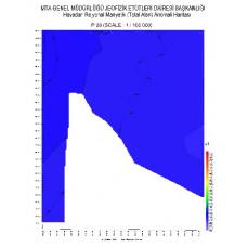 P 28 paftası 1/100.000 ölçekli Havadan Rejyonal Manyetik Haritası