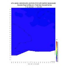 P 30 paftası 1/100.000 ölçekli Havadan Rejyonal Manyetik Haritası