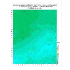 I 37 paftası 1/100.000 ölçekli Rejyonal Gravite (Bouguer Anomali) Haritası