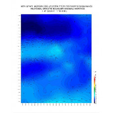 I 47 paftası 1/100.000 ölçekli Rejyonal Gravite (Bouguer Anomali) Haritası