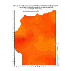 E 17 paftası 1/100.000 ölçekli Rejyonal Gravite (Bouguer Anomali) Haritası