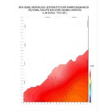 E 28 paftası 1/100.000 ölçekli Rejyonal Gravite (Bouguer Anomali) Haritası