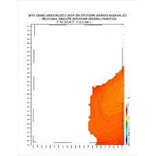 F 16 paftası 1/100.000 ölçekli Rejyonal Gravite (Bouguer Anomali) Haritası