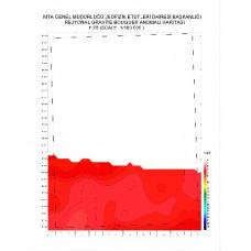 F 23 paftası 1/100.000 ölçekli Rejyonal Gravite (Bouguer Anomali) Haritası