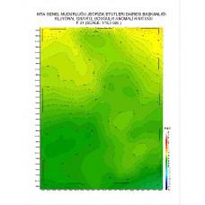 F 31 paftası 1/100.000 ölçekli Rejyonal Gravite (Bouguer Anomali) Haritası