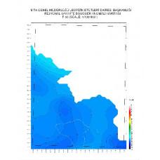 F 50 paftası 1/100.000 ölçekli Rejyonal Gravite (Bouguer Anomali) Haritası