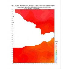 G 22 paftası 1/100.000 ölçekli Rejyonal Gravite (Bouguer Anomali) Haritası