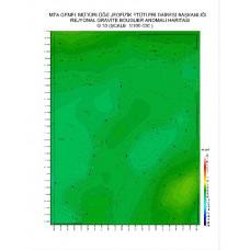 G 30 paftası 1/100.000 ölçekli Rejyonal Gravite (Bouguer Anomali) Haritası