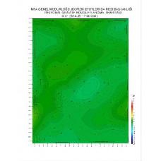 G 31 paftası 1/100.000 ölçekli Rejyonal Gravite (Bouguer Anomali) Haritası