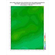 G 32 paftası 1/100.000 ölçekli Rejyonal Gravite (Bouguer Anomali) Haritası