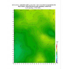 G 33 paftası 1/100.000 ölçekli Rejyonal Gravite (Bouguer Anomali) Haritası