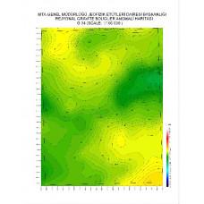G 34 paftası 1/100.000 ölçekli Rejyonal Gravite (Bouguer Anomali) Haritası