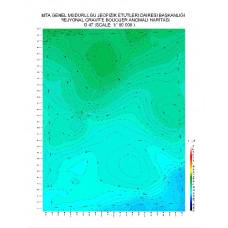 G 47 paftası 1/100.000 ölçekli Rejyonal Gravite (Bouguer Anomali) Haritası