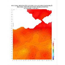 H 19 paftası 1/100.000 ölçekli Rejyonal Gravite (Bouguer Anomali) Haritası