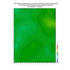 H 30 paftası 1/100.000 ölçekli Rejyonal Gravite (Bouguer Anomali) Haritası