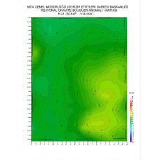 H 31 paftası 1/100.000 ölçekli Rejyonal Gravite (Bouguer Anomali) Haritası