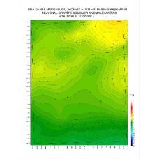 H 34 paftası 1/100.000 ölçekli Rejyonal Gravite (Bouguer Anomali) Haritası