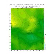 I 25 paftası 1/100.000 ölçekli Rejyonal Gravite (Bouguer Anomali) Haritası