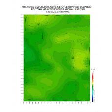 I 26 paftası 1/100.000 ölçekli Rejyonal Gravite (Bouguer Anomali) Haritası
