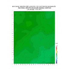 I 29 paftası 1/100.000 ölçekli Rejyonal Gravite (Bouguer Anomali) Haritası
